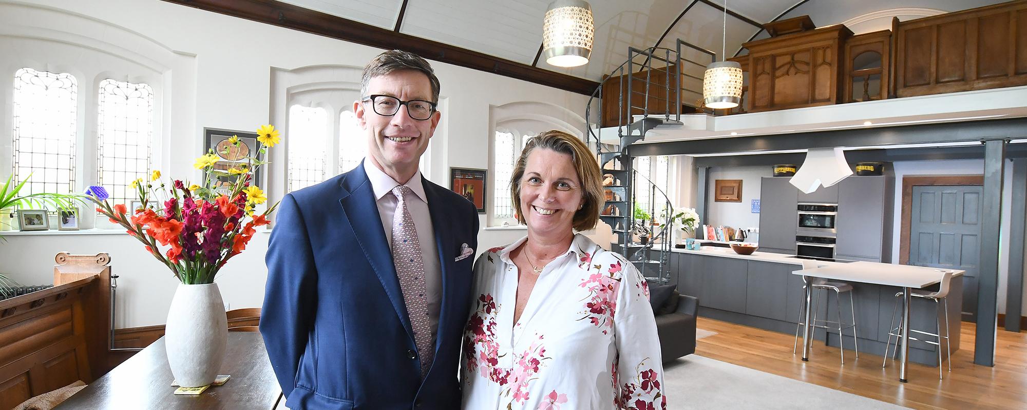 Ben and Tarnia Hudson in one of Hudson Moody's Prestige properties